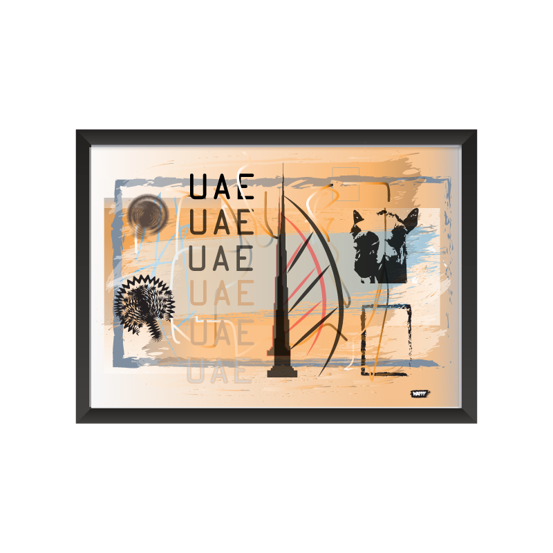 UAE art frame