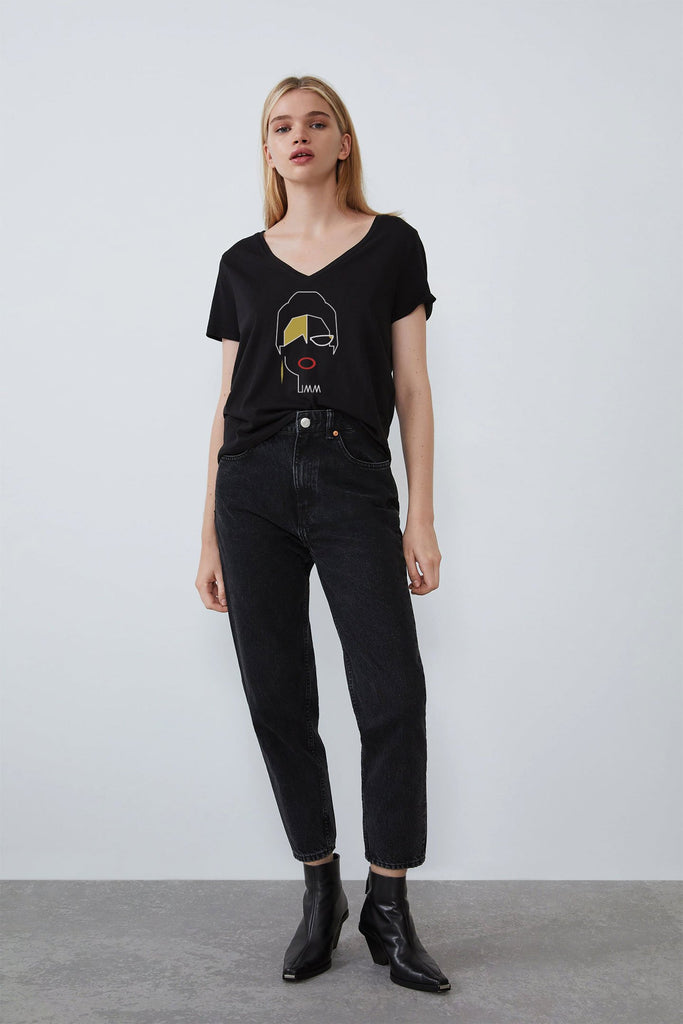 Umm Kulthum Black T-shirt