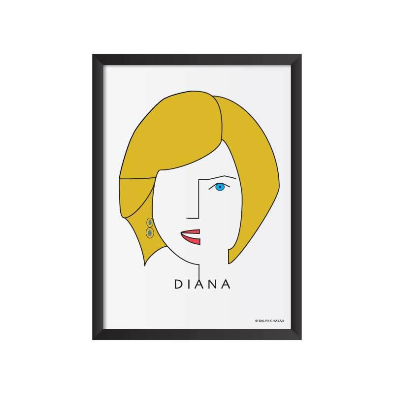 Princess Diana Art Frame