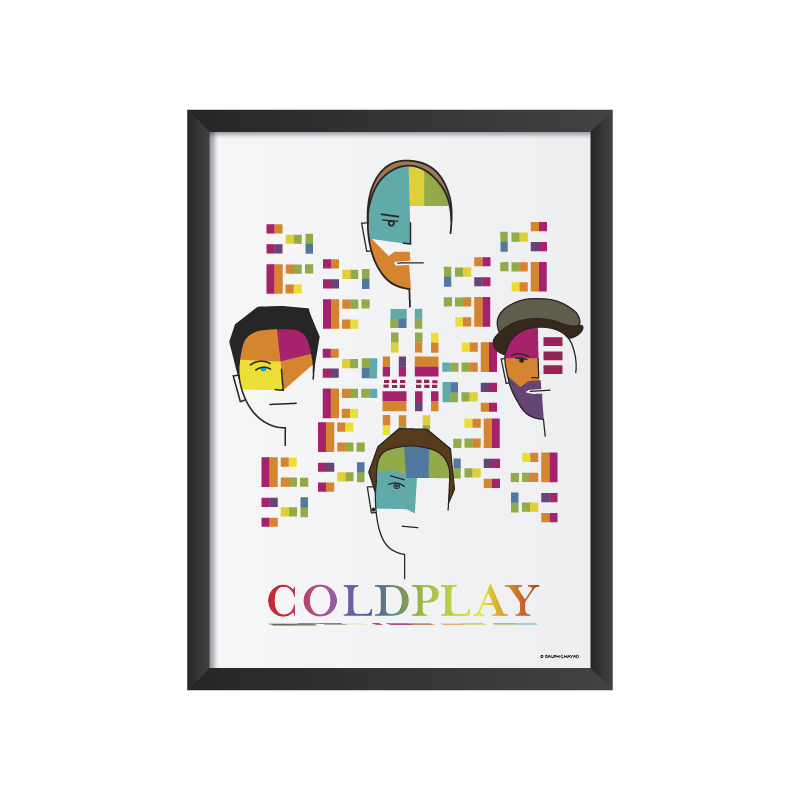 Coldplay Art Print