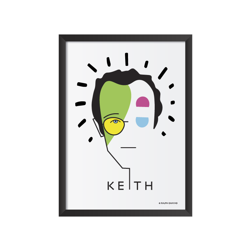Keith Harring Art frame