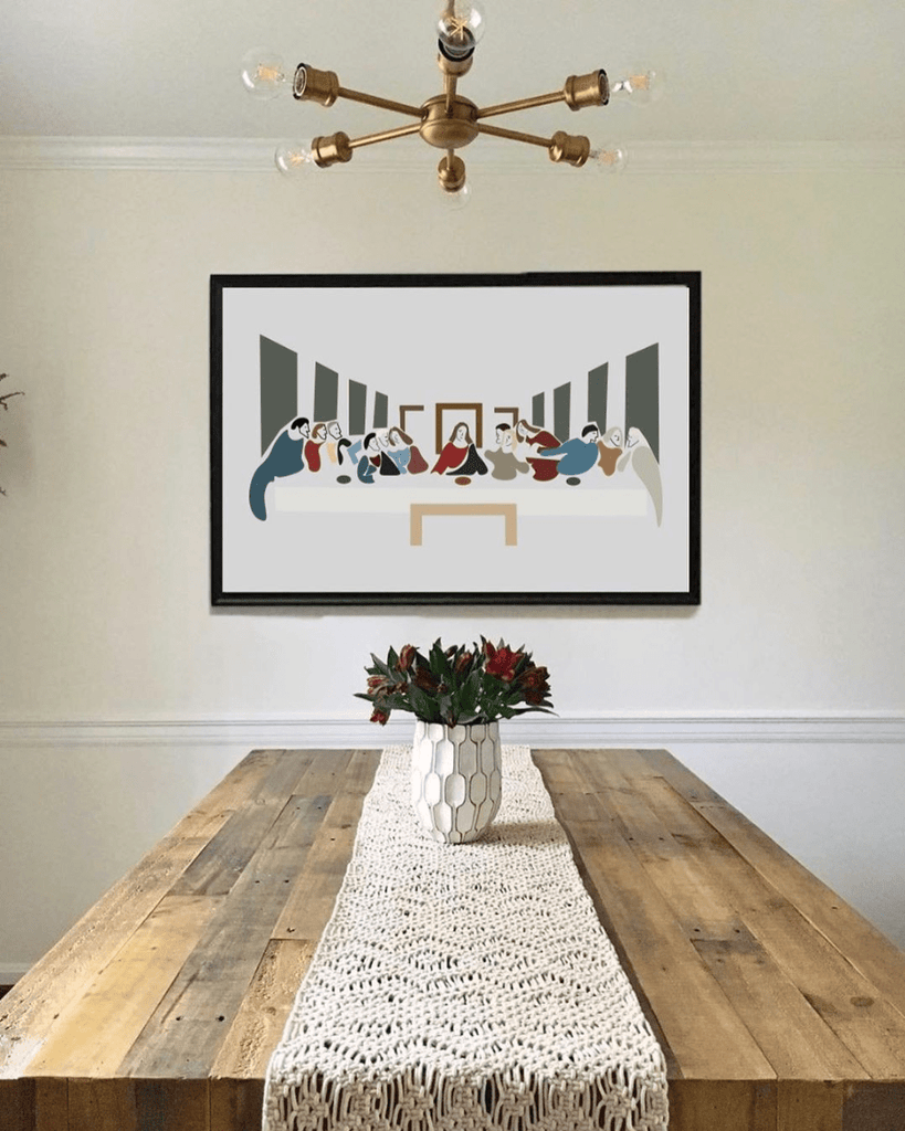 The Last Supper Modern Art Print