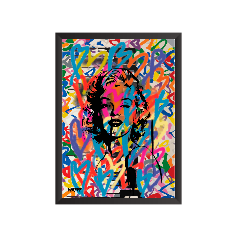 Marilyn MAD Love Art Frame