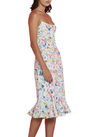 Cotton Gather Strapless Dress
