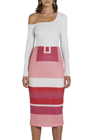 Prism Split Pencil Skirt - Lilac