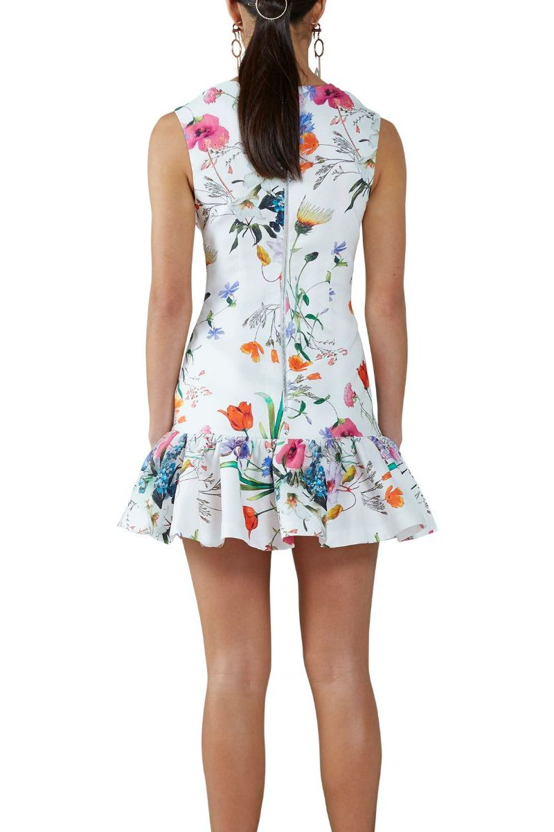 Ivory Flora Gather Mini Dress