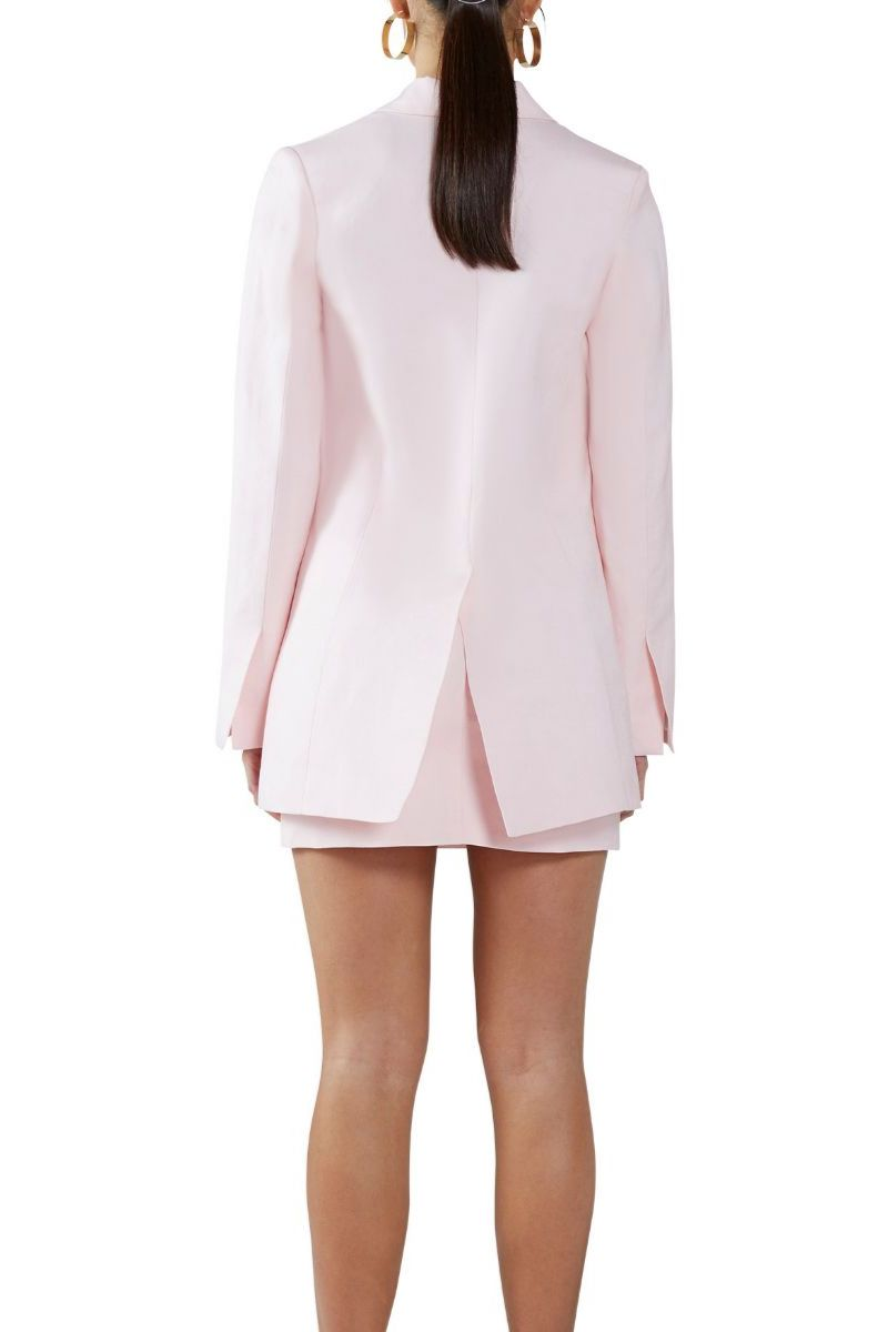 Strawberry Cream Linen Structured Blazer