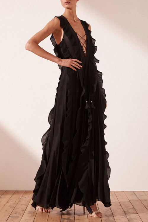 Juliete Pleated Maxi Dress