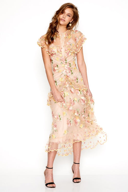 Floating Delicately Dress - Nude