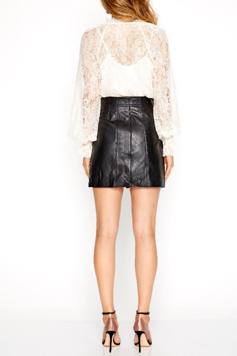 Make Me Yours Leather Mini Skirt