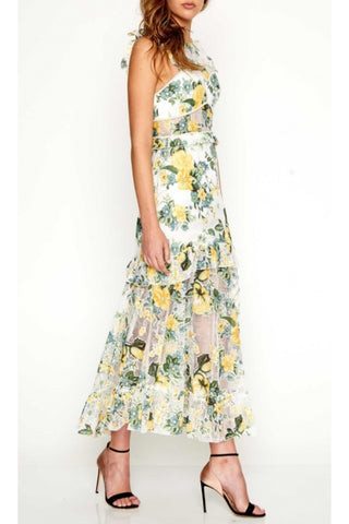 Solar Ruffle Maxi Dress