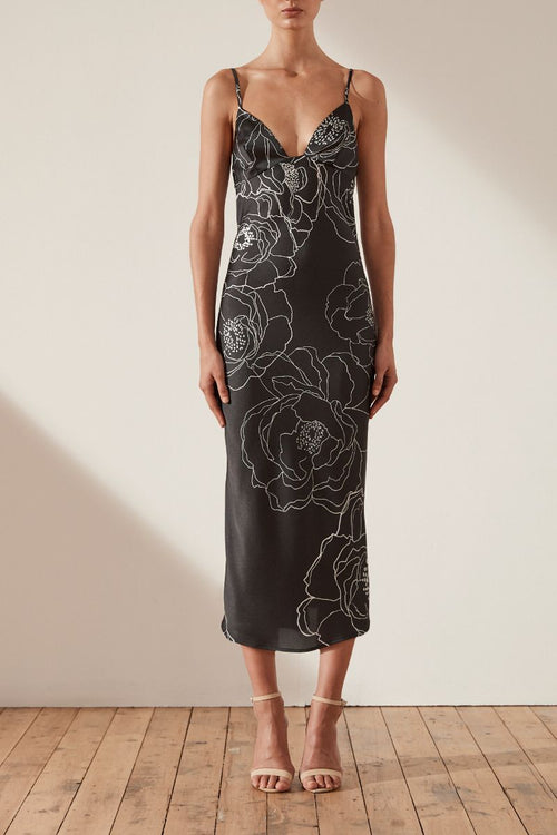 Lucca Bias Slip Midi Dress