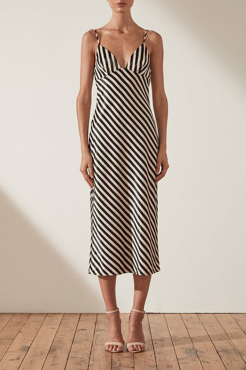 Duke Bias Slip Midi Dress