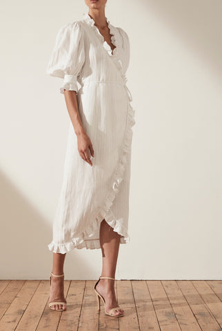 Moliere Lace Up Midi Dress