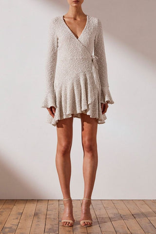 O'Dell Long Sleeve Bias Mini Dress