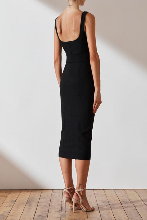 Davis Fitted Midi Dress