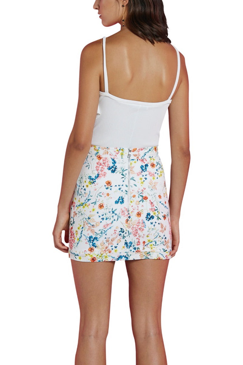 Floral Waves Mini Skirt