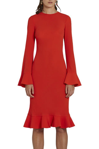 Aruba Flared Sleeve Cocktail Midi Dress