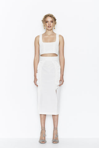 Je Suis Skirt - White