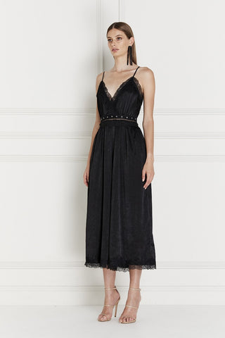 Senna Satin Wrap Dress