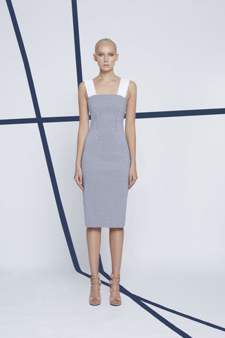 V-Front Twisted Tie Dress