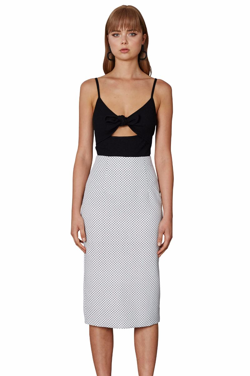 Kick Back Pencil Skirt - Black Wire