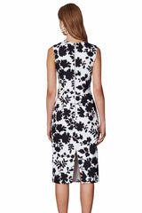 Flower Shadow Feature Bow Dress