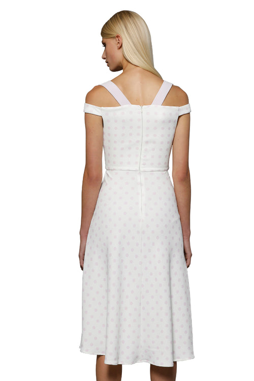 Formation Polka Midi Dress