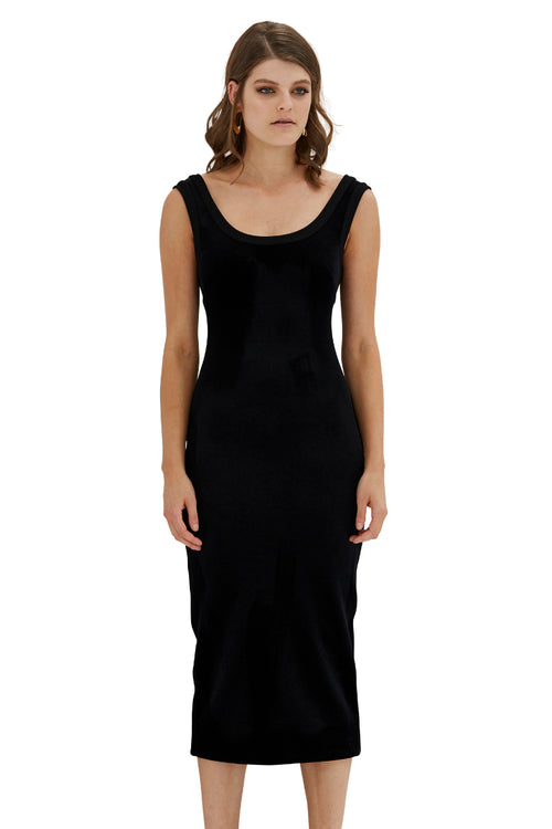 Vantablack Velvet Shift Dress