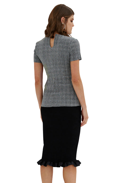 Sparkle Pleat Tee