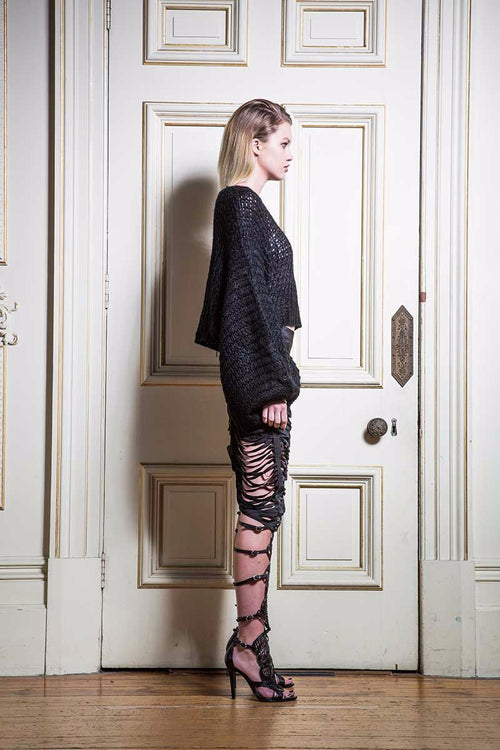 The Thin Line Skirt - Noir