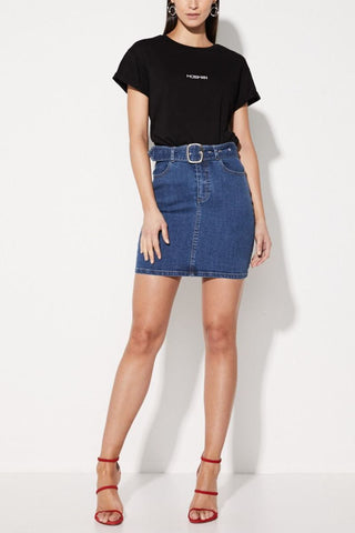 Lucia Five Dart Mini Skirt