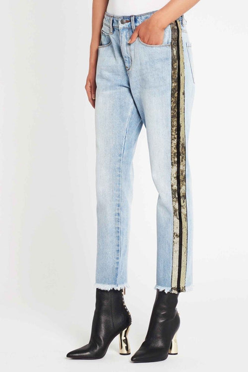 On The Rocks Sequin Boyfriend Jean