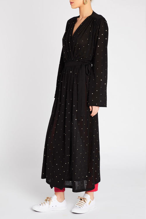 Reflections Embellished Wrap Knit Dress