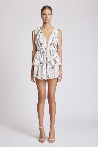 Antigua Lace Up Drawstring Playsuit