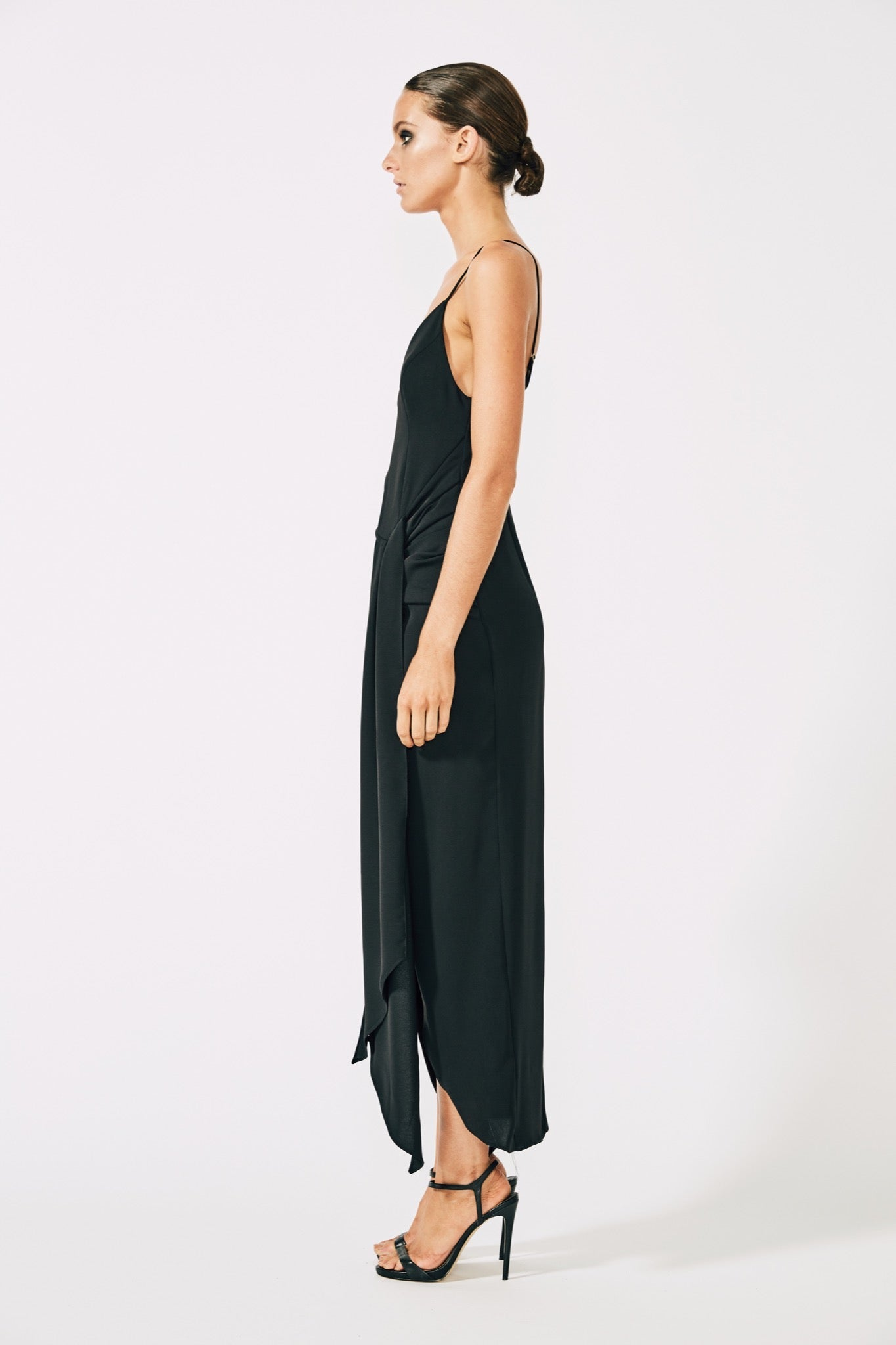 c6a82810a6d Voltaire Cocktail Draped Midi Dress – Matilda Australia