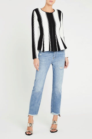 The Dialogue Studded Bomber Jacket
