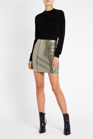 Prism Split Pencil Skirt - Grey Marle