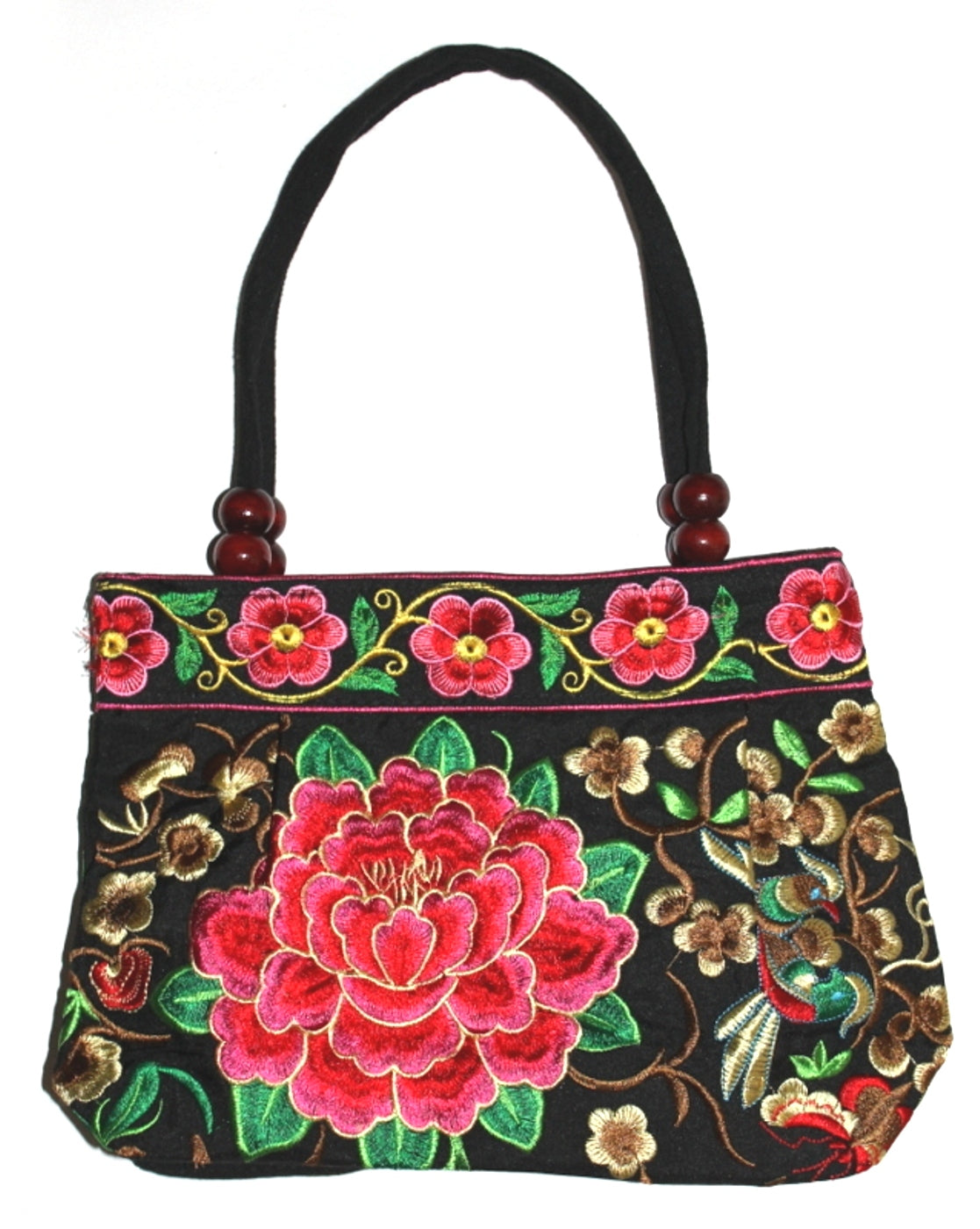 92f17d5c68a Fashion Accessory: Trendy Floral Embroidered Women's Handbag, double handle  with ...