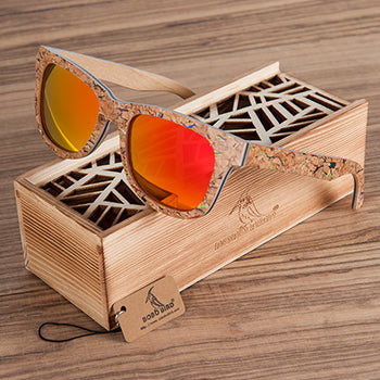 Cracked | Wood Sunglasses