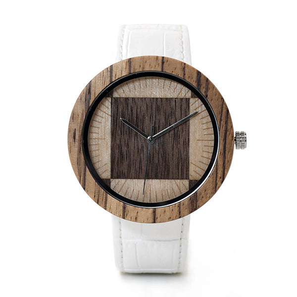 The Geometrist | Zebra Wood Watch