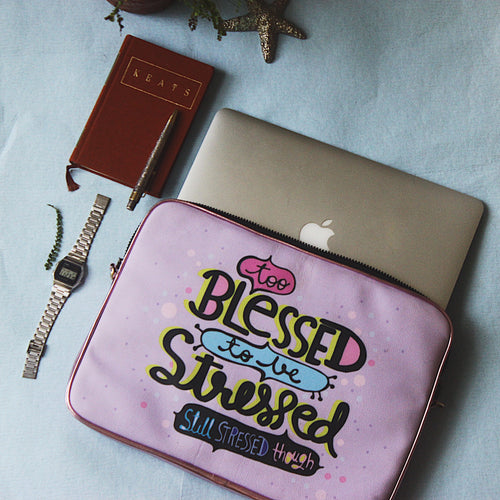 BLESSED&STRESSED - LAPTOP BAG