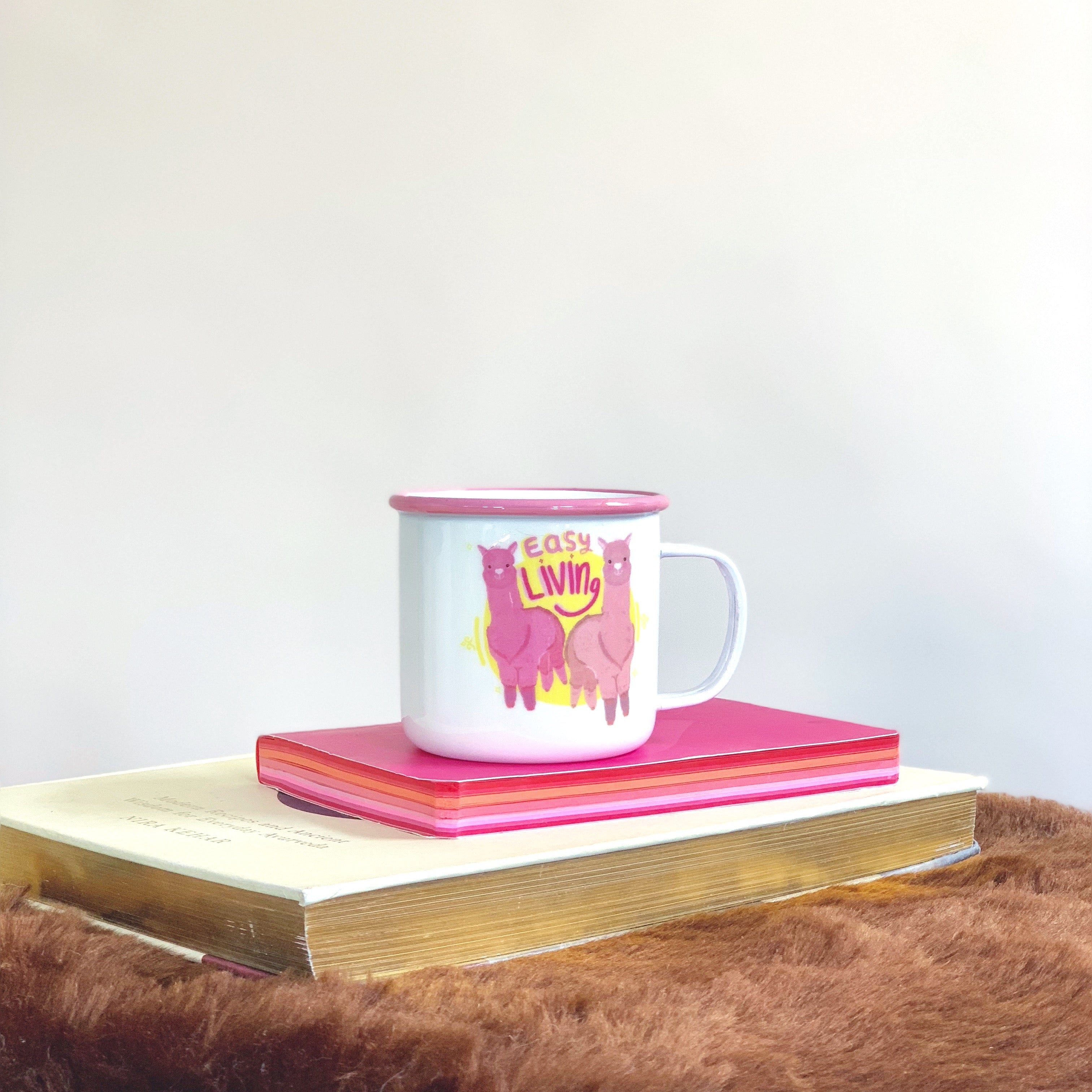 Set of 4 WILD CHILD enamel mug (s)