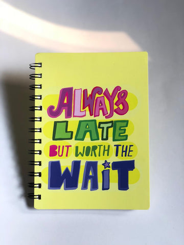 work hard art journal