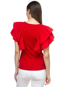 """Feeling this Ruffle"" Top"
