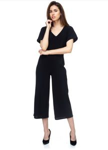 """Cute Comfort"" Cropped Jumpsuit"