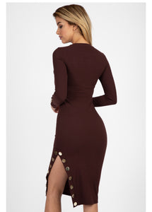 """Dress to Impress"" Ribbed Midi Dress"