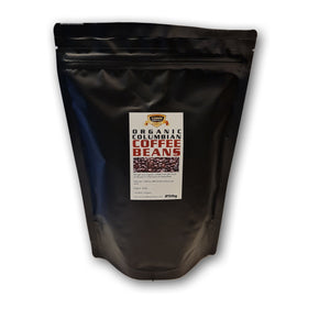 Organic Colombian coffee beans