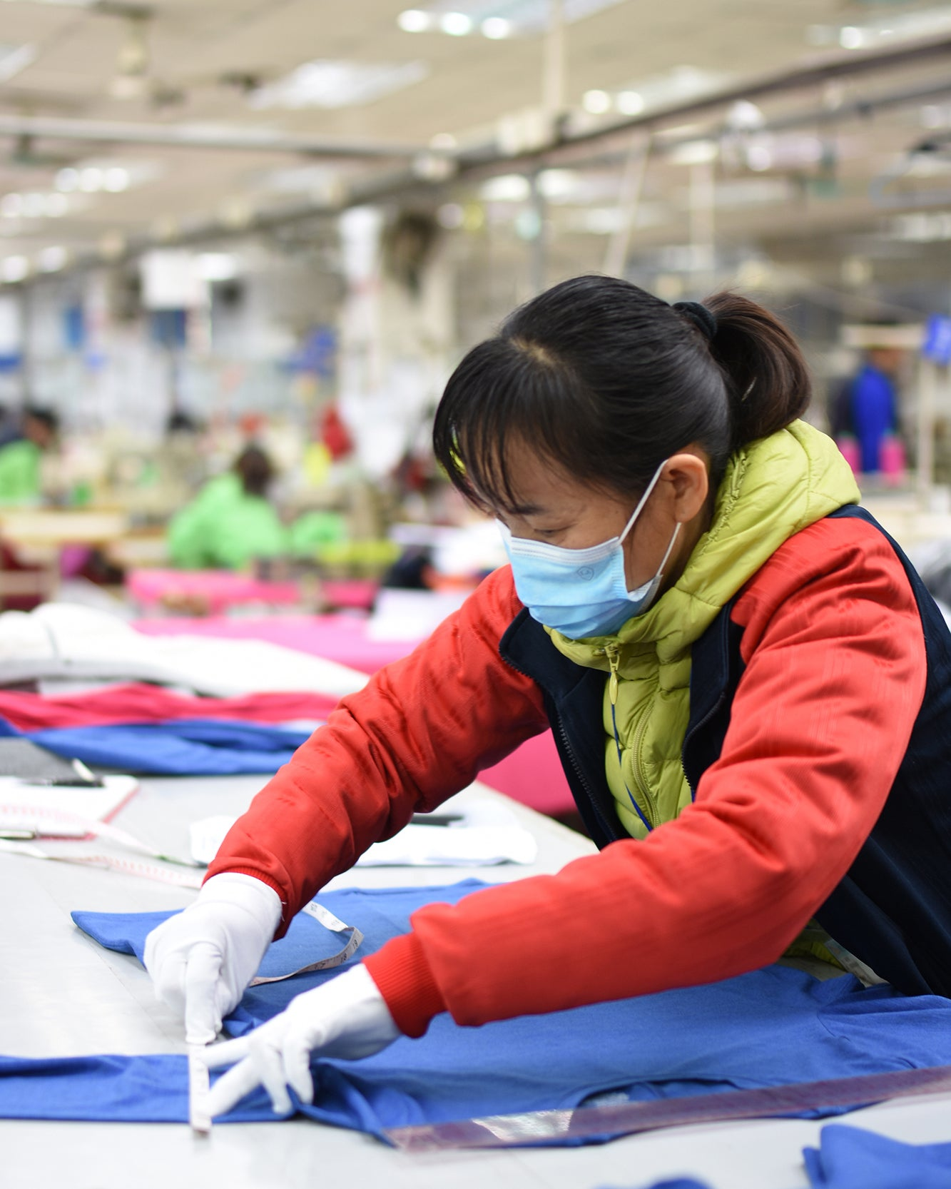 premium basics garment worker china qc inspector