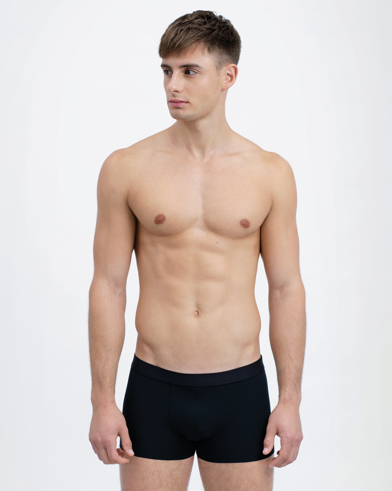 Men Tencel Micromodal Boxer Brief Black Featured